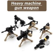 MOC Weapon Pack Military Swat Police GUN Building Blocks Brick Arms WW2 World War Blocks Toys