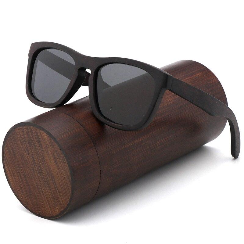 Retro men polarized women sunglasses Black wood Kids Couples sun glasses handmade UV400 With bamboo