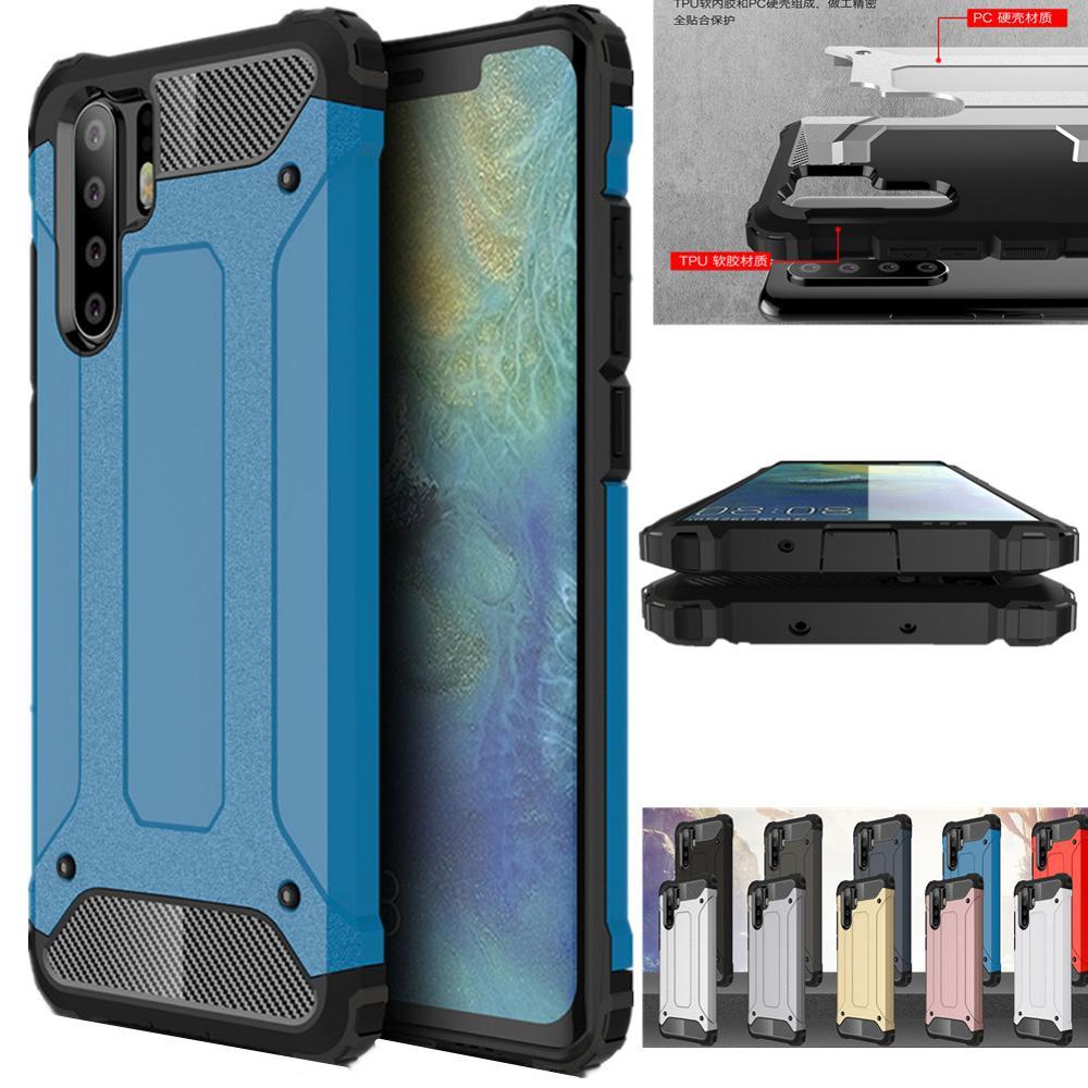Luxus Rüstung Fall Für Huawei P30 Pro Lite P20 Mate 20 20X P Smart 2019 Telefon Fall Für Huawei Ehre v20 8X MAX Nove 4 3 3i Fall