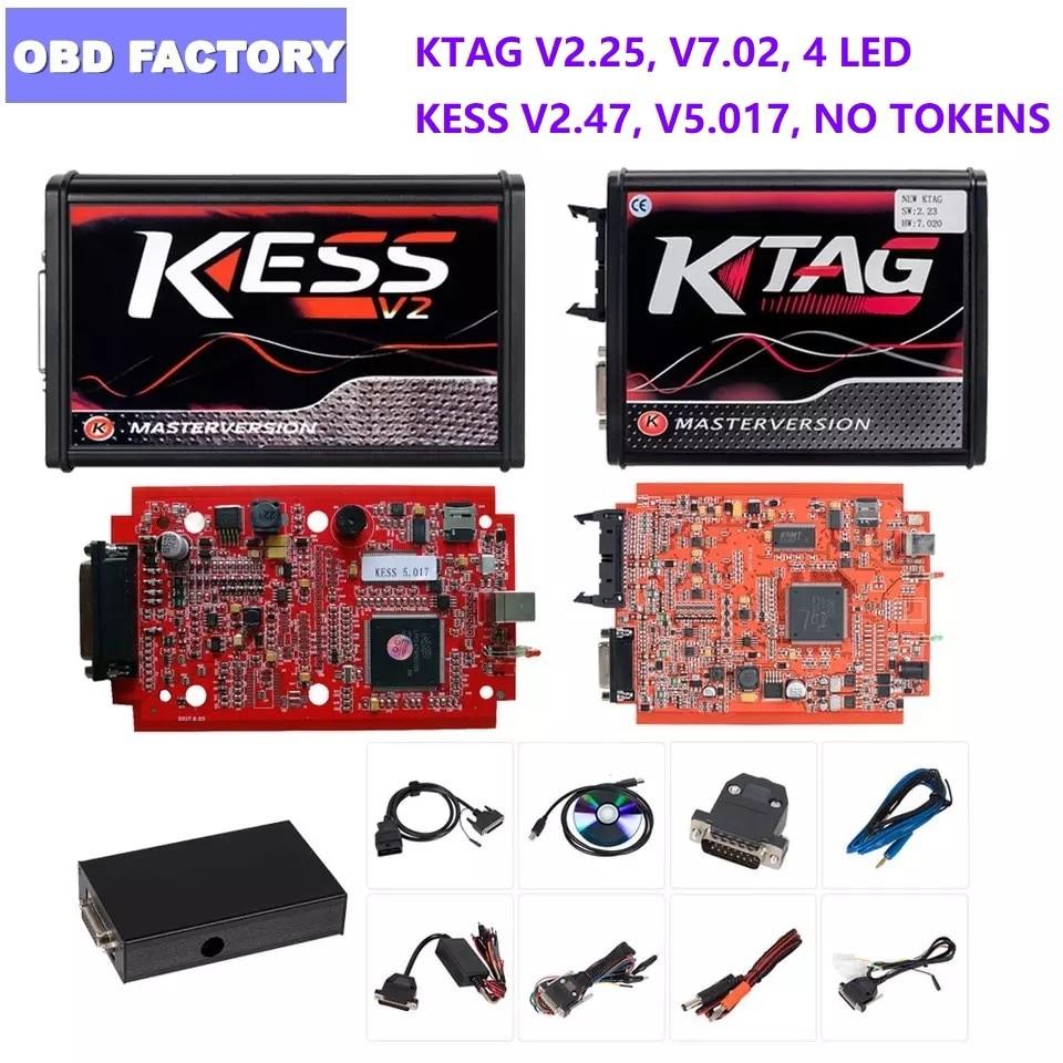V2.53 Kess V2 V5.017 V2.47 fgtech V54 programador de ECU KTAG BDM adaptadores KTAG KESS BDM marco BDM100 programador KTAG 7,02 KESS V2.47