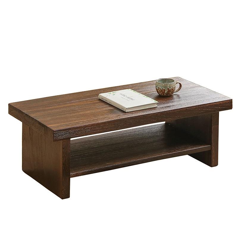 طاولة شاي مستطيلة الشكل على الطراز الشرقي العتيق ، 80 × 39 سنتيمتر ، أثاث خشبي ياباني لغرفة المعيشة