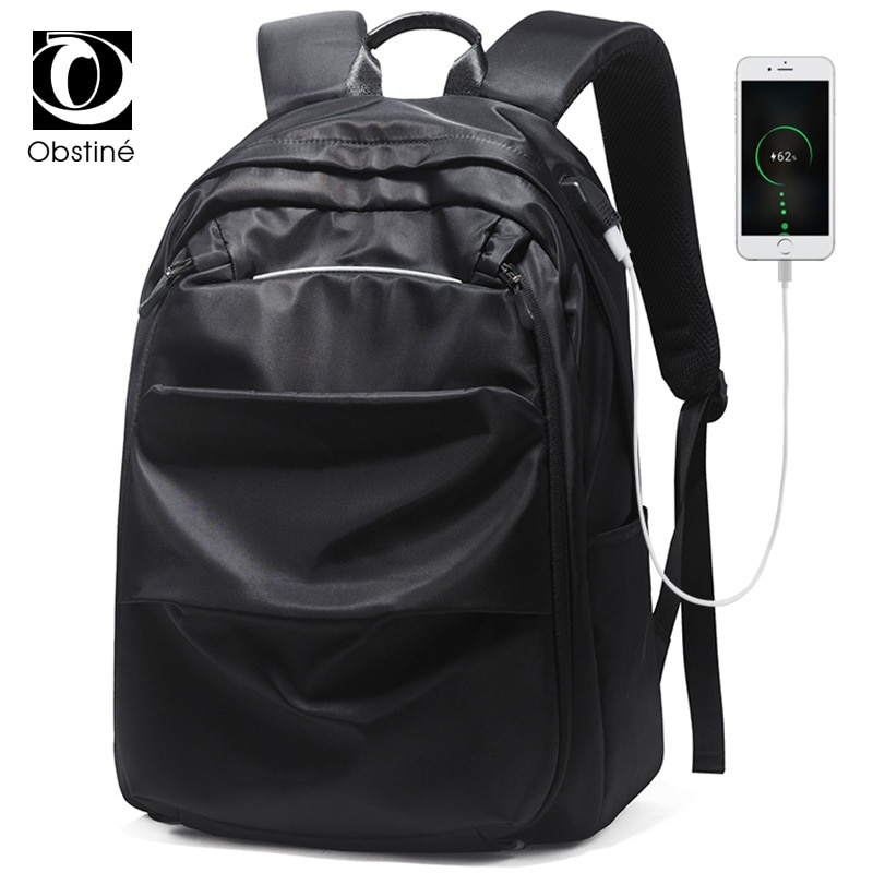 large waterproof travel backpack for laptop 15.6 inch for men nylon men's backpacks with charging USB bag pack schoolbag bagpack