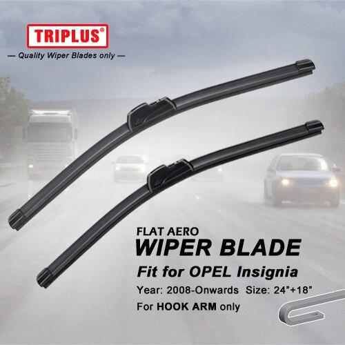"Lâmina de limpador para OPEL Insignia (2008-avante) 1 conjunto de 24 ""+ 18"", Para Vauxhall Aero Plana feixe Windscreen Wiper Frameless Suave Blades"