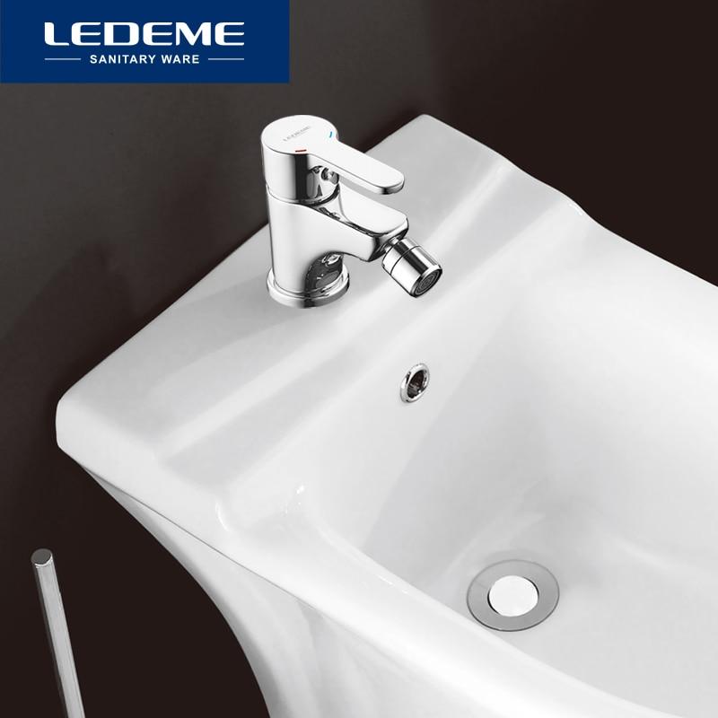 LEDEME-صنبور حمام نحاسي مع فتحة واحدة مثبتة على سطح السفينة ، صنبور بيديت ، L5003