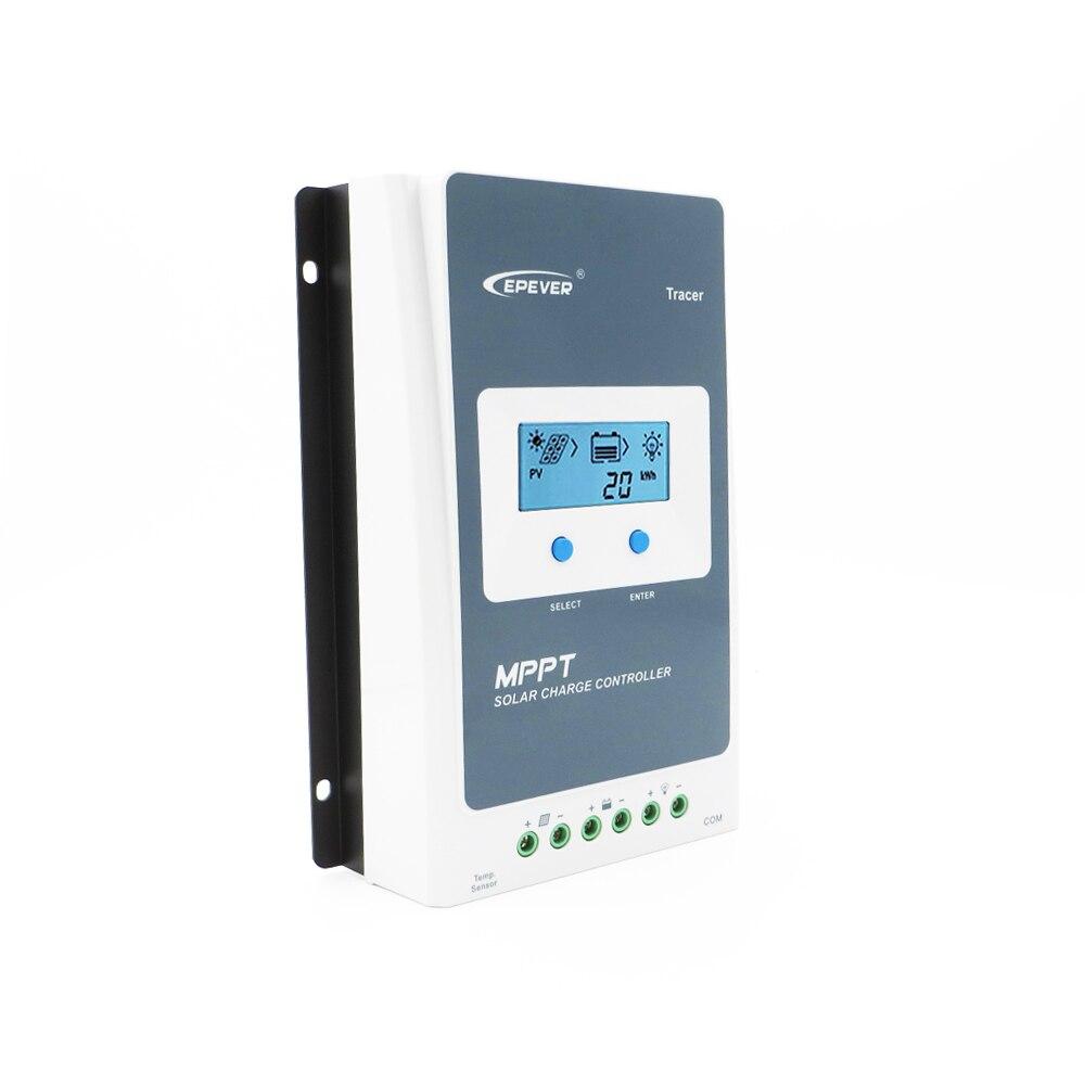 Tracer3210AN 30A MPPT controlador de carga Solar control DE cargador de batería 3210AN 3210A 12V 24V PC regulador LCD