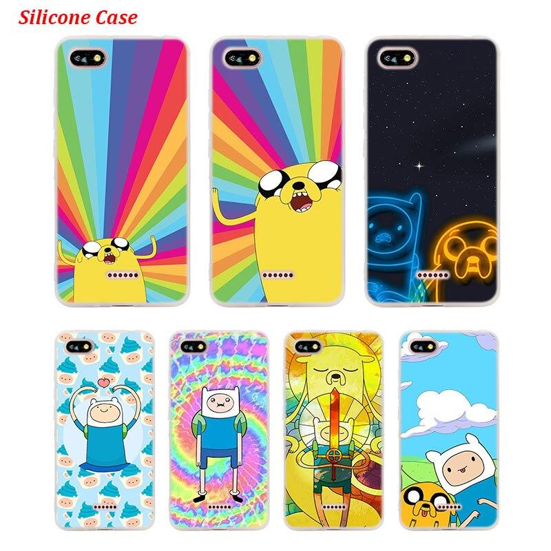 Silicone Telefone Caso o Tempo de Aventura Finn Jake para Xiaomi Redmi Nota 4 S2 4X5 5Pro 5A Plus 6 6A 7 Pro Cover