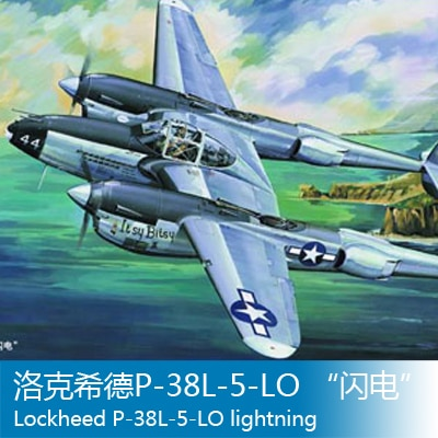 Assembly model    Trumpet model  1/32 Lockheed P-38L-5-LO lightning    aircraft    Toys