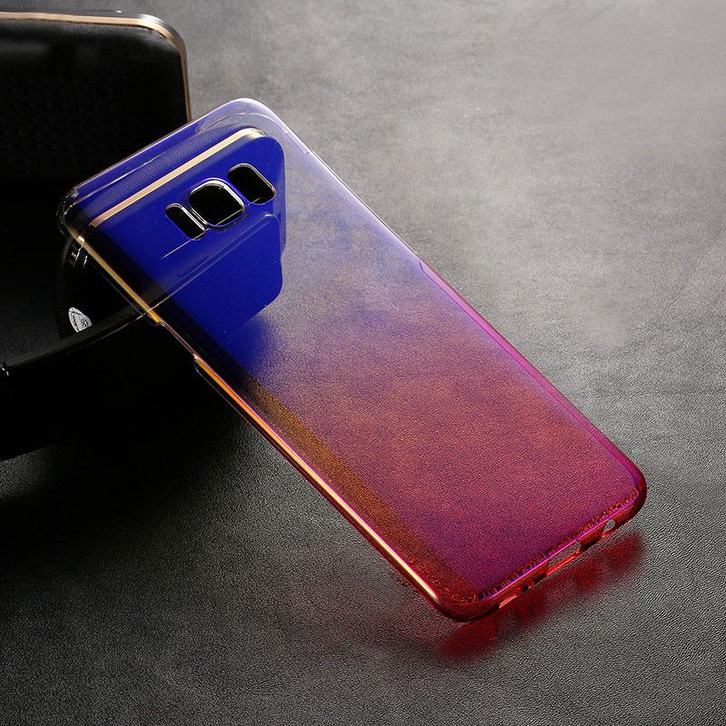 Kolorowe case do samsung galaxy s7 edge s8 plus s8 case gradientu kolor pc mocno plecy pokrywa dla samsung s8 s7 krawędzi case artisome 24