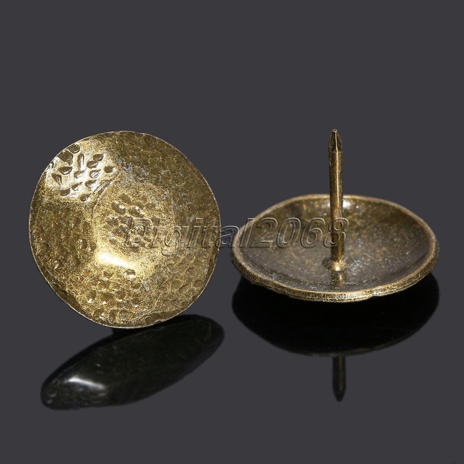 50 шт., бронзовая сотовая мебель, декоративные гвозди для обивки, шпильки для домашнего декора, 26x20мм