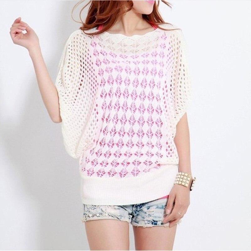 Женский трикотажный пуловер с открытой спиной и коротким рукавом укороченный 13
