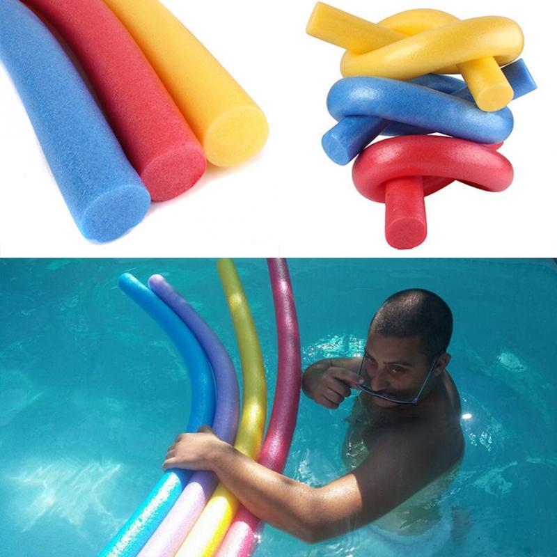 Prático 6x150cm portátil flutuante piscina noodle nadar kickboard float água ajuda woggle macarrão aprender espuma