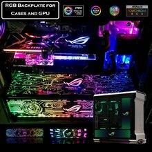 Plaque arrière adaptée aux besoins du client de boîtier de PC pour le boîtier/carte graphique panneau latéral rvb symphonie lumière colorée/rvb/Adressable D-RGB AURA Streamer