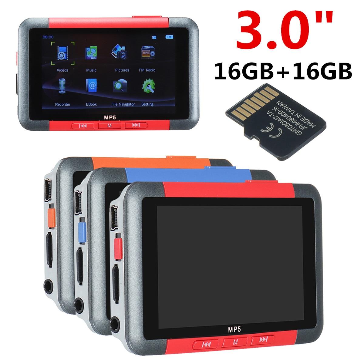 Mp5 player 3 Polegada mini tela lcd música vídeo player gravador de voz jogos leitor de e-book rádio fm 32 gb mp4 leitor de música