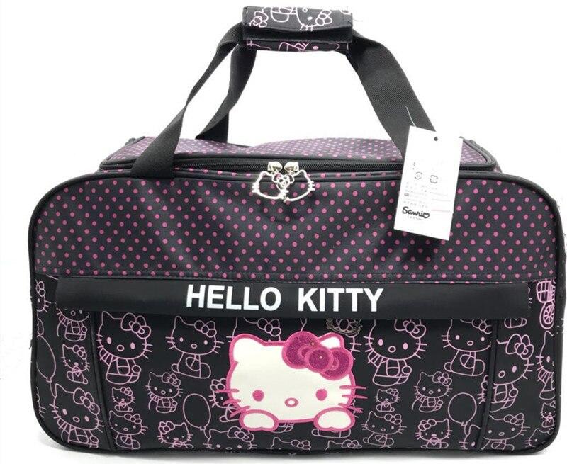 Bolso de viaje Hello Kitty, de gran capacidad, de corta distancia, para mujer