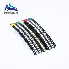 5 valeurs 500 PCS/LOT Super lumineux 3528 1210 SMD LED rouge/vert/bleu/jaune/blanc 100 pièces chaque Diode LED 3.5*2.8mm 3528 R/G/B/W/Y