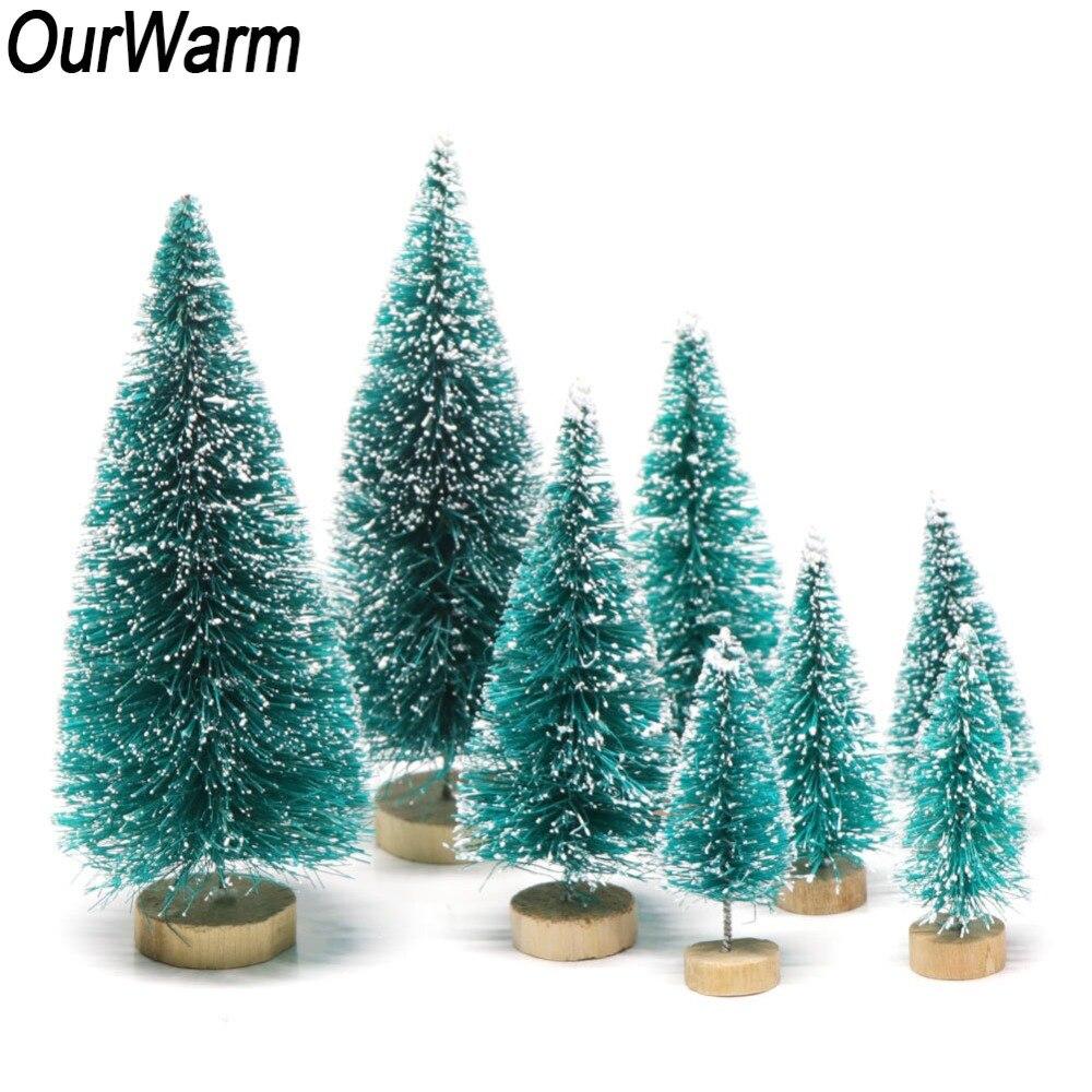 OurWarm 8 pcs 4 Min tamanhos Pequeno Árvore de Natal Artificial Árvore de Natal Como Presente Pequeno Pinheiro Colocados No desktop Em Casa Decoração
