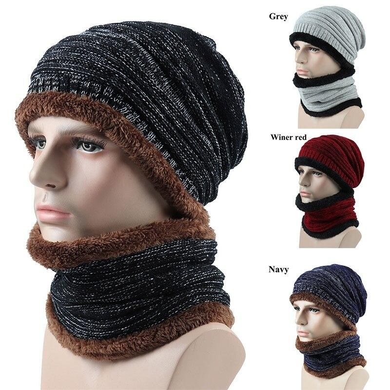 Зимняя мужская Лыжная комбинация, маска для сноуборда, теплая вязаная шапка, шарф, вязаная Лыжная маска, шапка, спортивная шапка для скейтбо...