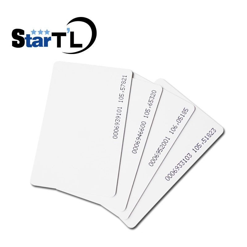 500 Piece 125KHz EM RFID Proximity Induction Thin Card EM4100 Smart Cards 0.8mm PVC Card For Access Control System