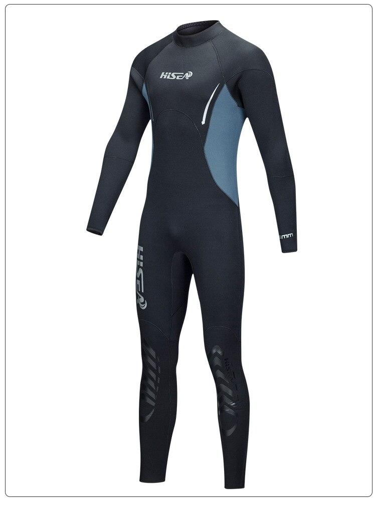HISEA One-Piece Neoprene 5MM Diving Suit Winter Long Sleeve Men Scuba Wetsuit Prevent Jellyfish Snorkeling Beach Bathing Suits