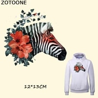 zotoone watercolor flower zebra iron on patches for clothes iron on transfers heat patches a level washable stickers appliques c