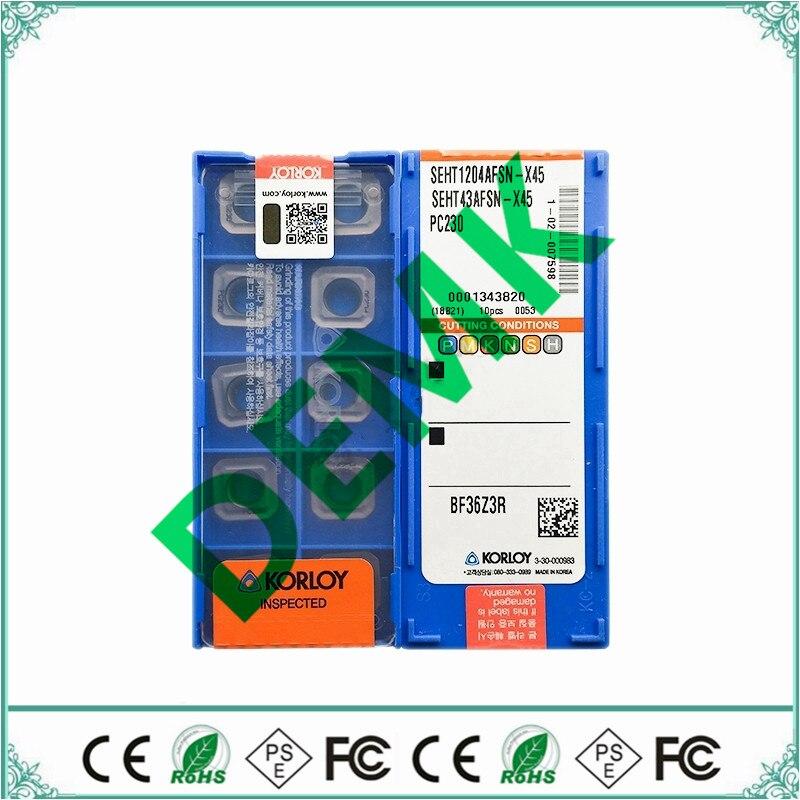 SEHT1204AFSN-X45 PC230 10 stücke korloy für 45 grad KM12 fräsen disc, hartmetall insert cnc werkzeuge Stahl, edelstahl verarbeitung