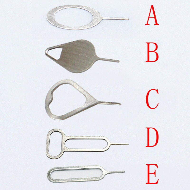 100 unids/lote Metal Universal bandeja de tarjeta SIM Pin expulsión de la aguja del abrelatas eyector para teléfono móvil