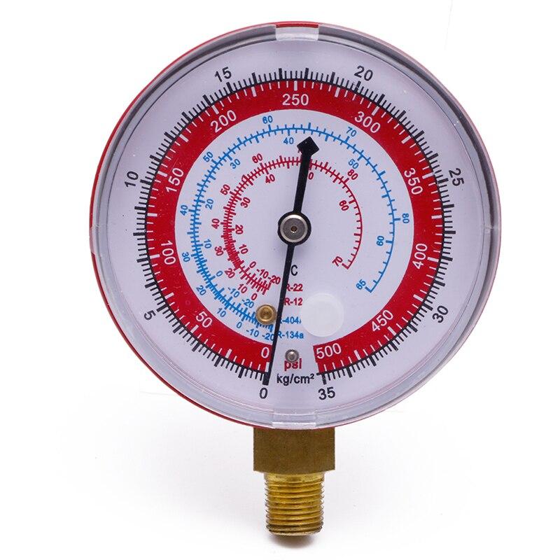 Ar condicionado r410a r134a r22 refrigerante de alta pressão calibre psi kpa vermelho-y103