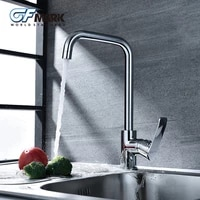 gfmark kitchen faucets deck mounted crane for sinks brass taps torneira ceramic spool mixer kitchen fixture chrome faucet