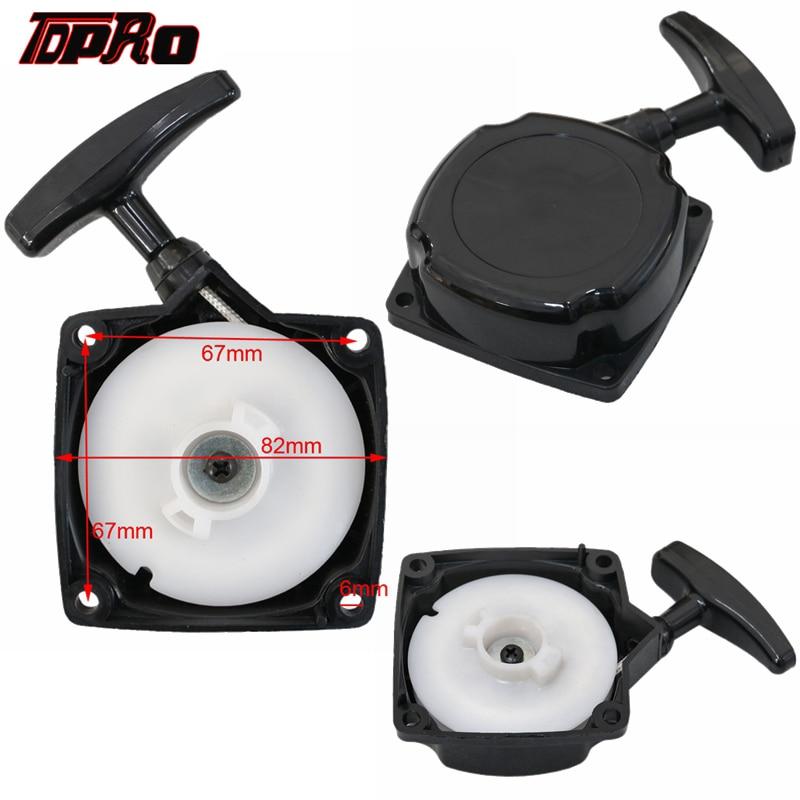 TDPRO 33cc-49cc 2 Stroke Mini Recoil Pull Start Starter For Pocket ATV Dirt Bike Mini Quad Chopper Scooter 33cc 43cc 47cc 49cc