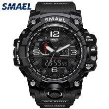 Smael Mens Wristwatch Multi-Function Dual Display Dial Outdoor Waterproof Sports Watch Man Electronic Watch relogios digitais
