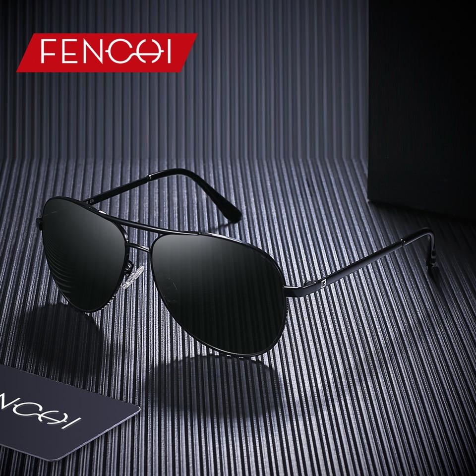 FENCHI Design Sunglasses Men Retro New Driving Vintage Fashion Fishing Pilot Sunglasses High Quality