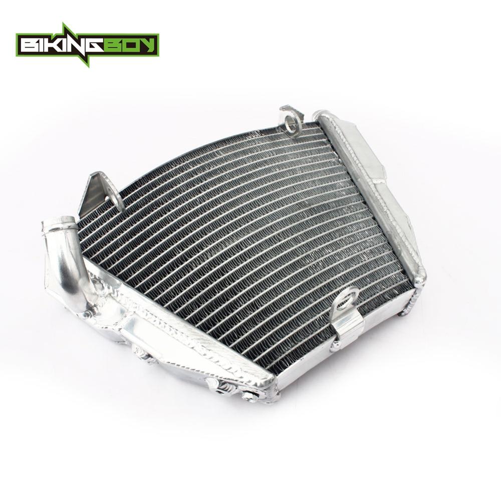 BIKINGBOY Aluminium BODEN Motor Wasser Kühler Kühler Für Ducati Streetfighter/S 09-12 Streetfighter 848 1098S OEM 54840841B
