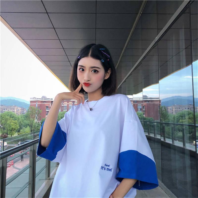 Camiseta estampada casual de algodão, camiseta para mulheres, tamanho grande, meia manga, gola redonda, 2020 camisa feminina