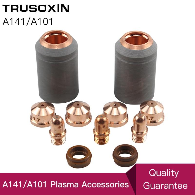 Non-original A141 Plasma Torch Consumables Kit 4pcs Cutting Electrode Nozzle Tip Shield PR0101 PD0101 PC0101 PE0101 CV0011