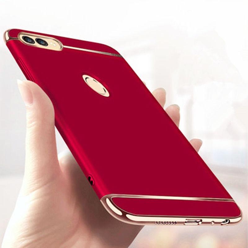 Pour Huawei P Smart 3 en 1 PC en plastique dur couverture complète pour PSmart Z Y9 Prime 2019 Honor 10 Lite 9 P20 P30 Mate 20 pro étui de placage