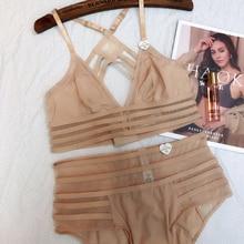 Wriufred bralett francês sexy lingerie de renda plus size fio livre fino sutiã terno menina roupa interior peito grande conjunto