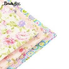 Textile de décoration pour la maison   3 pièces/lot de 40cm x 50cm, tissu de bébé 100% coton, joli motif de fleurs, gros, mètre de courtepointe pour robe