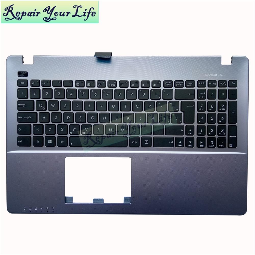 Repair You Life teclado para portátil ASUS X550EA X550 X550MD X550VA X550WE teclado Latino Topcase Palmrest 90NB03R9-R31LA0