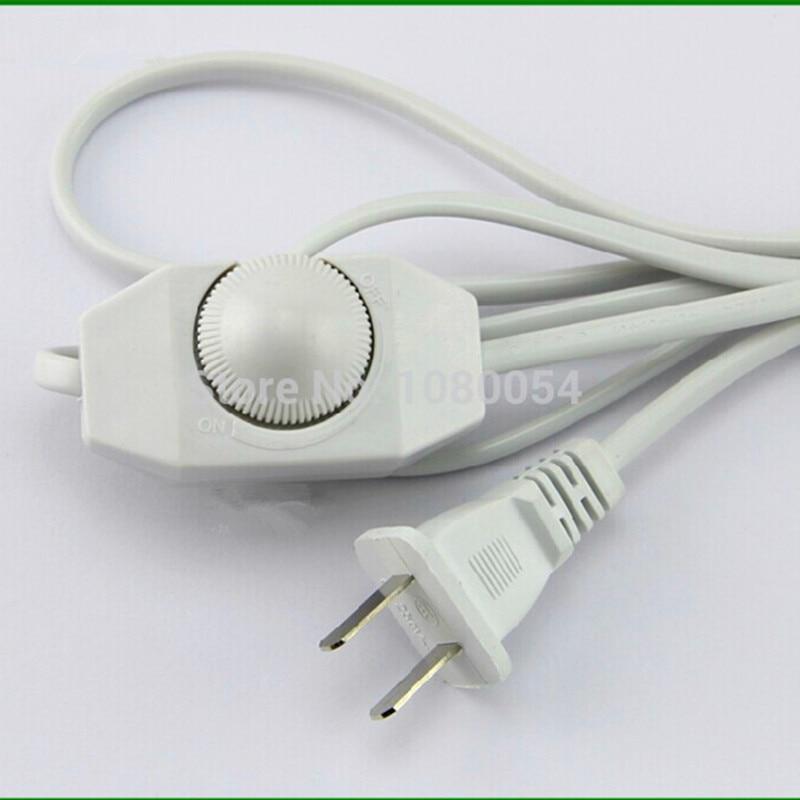 Controlador ajustable DIY LED Dimmer Switch para lámpara de mesa lámpara de pie bombilla 2 clavijas redondas con cable eléctrico regulable de 1,8 m