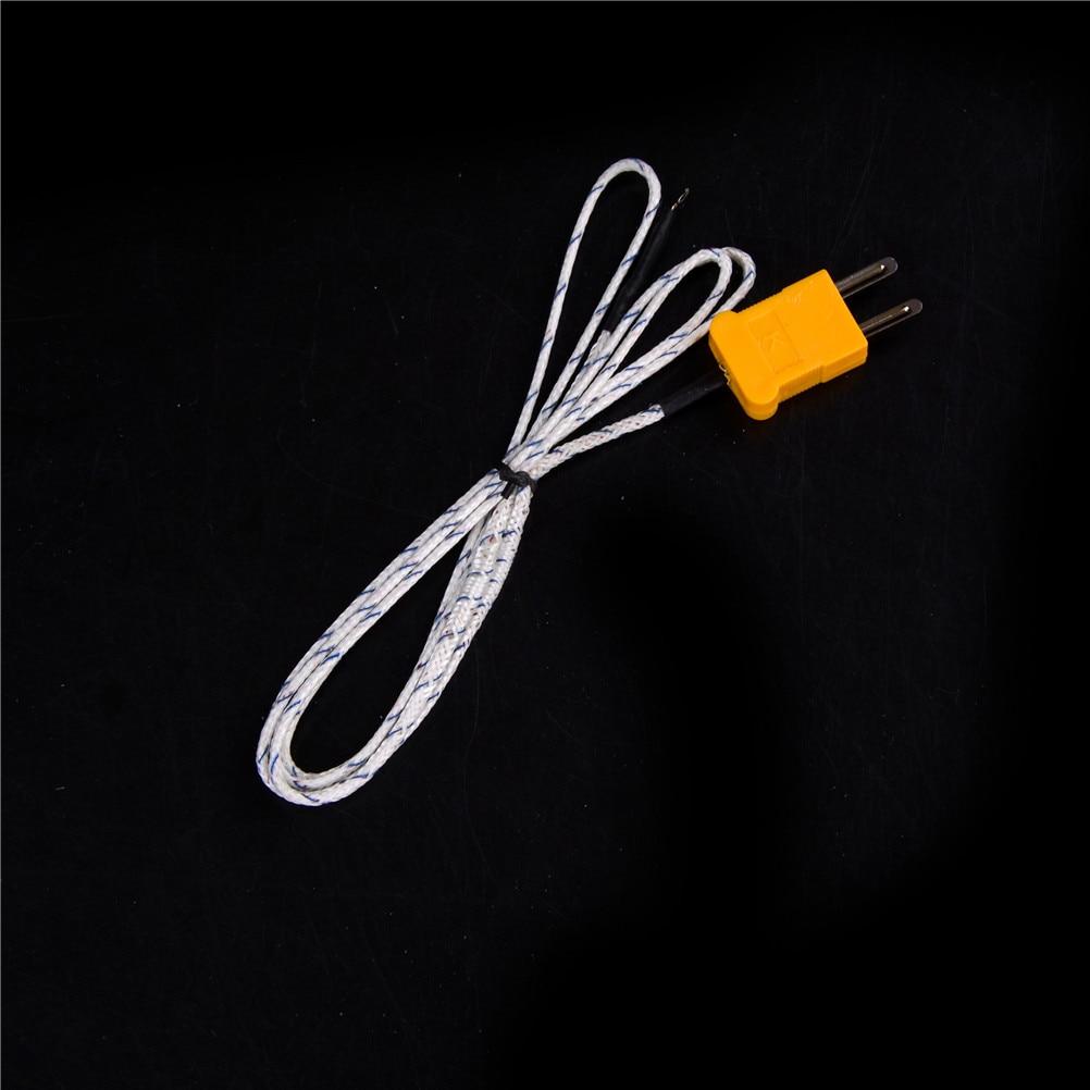 1 pcs Controlador de Temperatura hermocouple Probe K Tipo de Sensor com Fio Cabo de cerca de 100 cm de comprimento