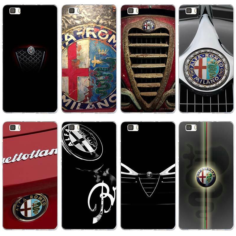 Casos suaves para Huawei P8 P9 P10 P20 P30 Y5 Y6 II Y7 6X9 Companheiro 10 Honra Pro lite Hot Car Alfa Romeo Logo Design