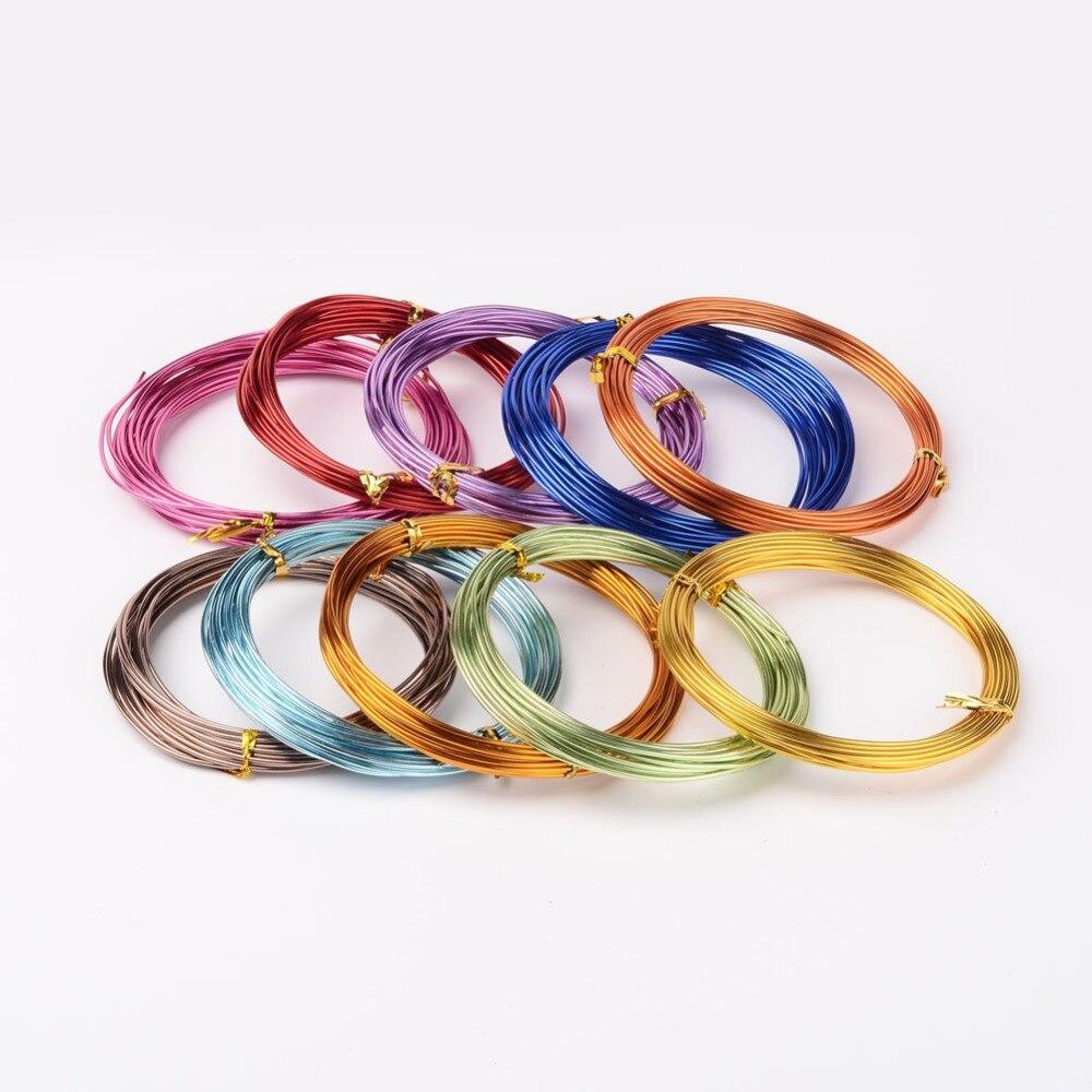 Cable colorido de aluminio de 1,5mm 6 m/rollo para joyería artesanal hecha a mano suave