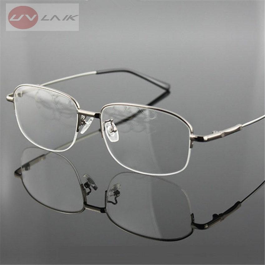 UVLAIK титановые очки с эффектом памяти, полусплавная оправа, оптические очки, оправа для мужчин и женщин, мужские ретро очки с полуоправой, очк...