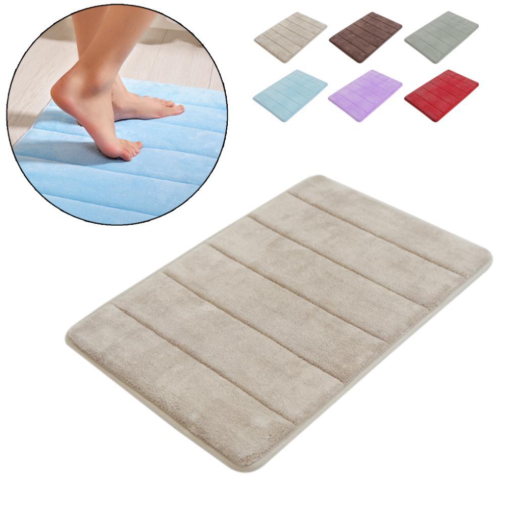 1 alfombra de baño de lana Coral para el hogar alfombra antideslizante de espuma viscoelástica alfombra suave para suelo lavable súper absorbente 40x60cm