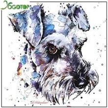 YOGOTOP Diamond Embroidery schnauzer painting puzzle 5d,Full,diamond painting christmas,square Rhinestone,Mosaic, Dog YY521