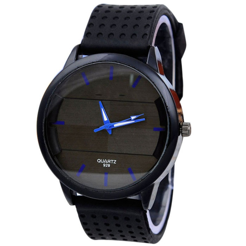 Fashion New Men's Casual Watch Simple Style Watch Stereo Surface Silicone Watch Date Sport Wrist Wat