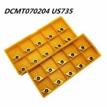 Tungsten Carbide DCMT070204 VP15TF US735 External Metal Turning Tool Carbide Tool CNC Turning Lathe Tool DCMT 070204 Tools