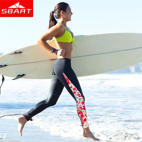 SBART nueva Upf50 UV mujeres Rash Guard Pantalones deportivos Leggings largos pantalones de natación Lycra Surf Rashguard inferior