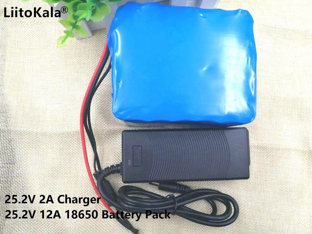 Специальный аккумулятор для электромобиля, 24 В, 12 А · ч, 18650, 12000 мА/ч, 25,2 в, литий-ионный аккумулятор в режиме ожидания, портативный, 24 В (25,2 в), 2 ...