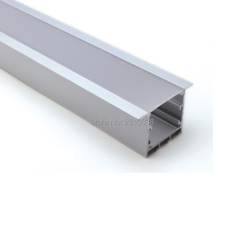 100 X 2M Sets/Lot Recessed T size led aluminum extrusion profiles and New arrival led profile light for ceiling lamps